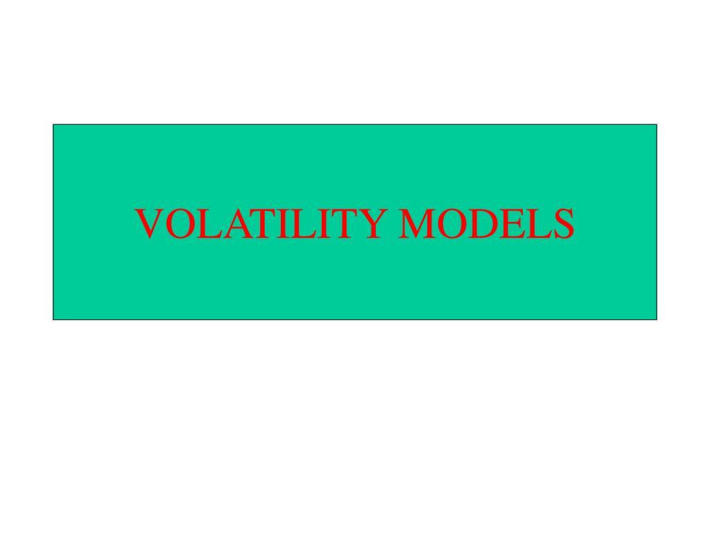 volatility models l.
