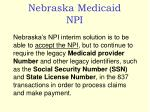 nebraska medicaid npi2