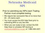nebraska medicaid npi4