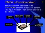 fmea is function driven