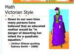 math victorian style