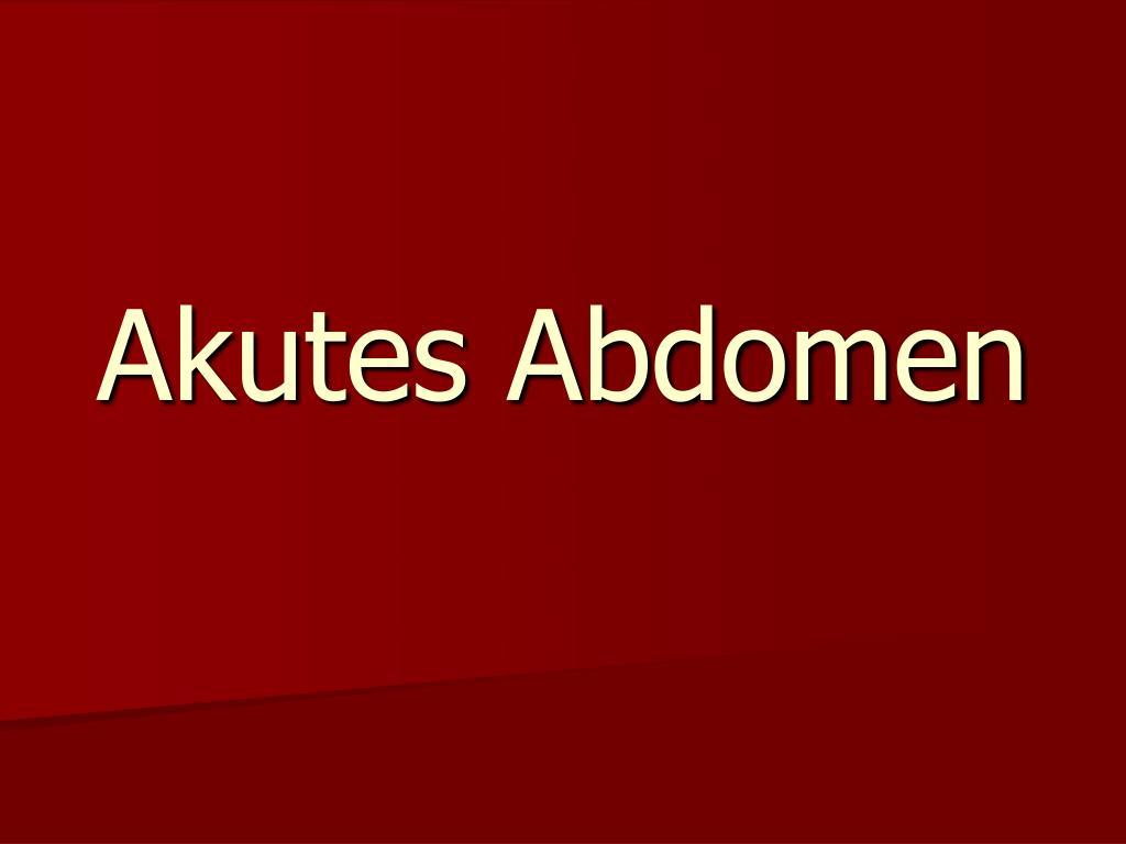 akutes abdomen l.