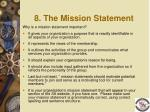 8 the mission statement