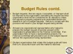budget rules contd13