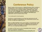 conference policy73
