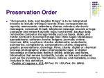 preservation order