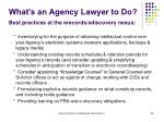 what s an agency lawyer to do best practices at the erecords ediscovery nexus