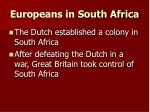europeans in south africa