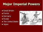 major imperial powers