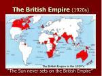 the british empire 1920s