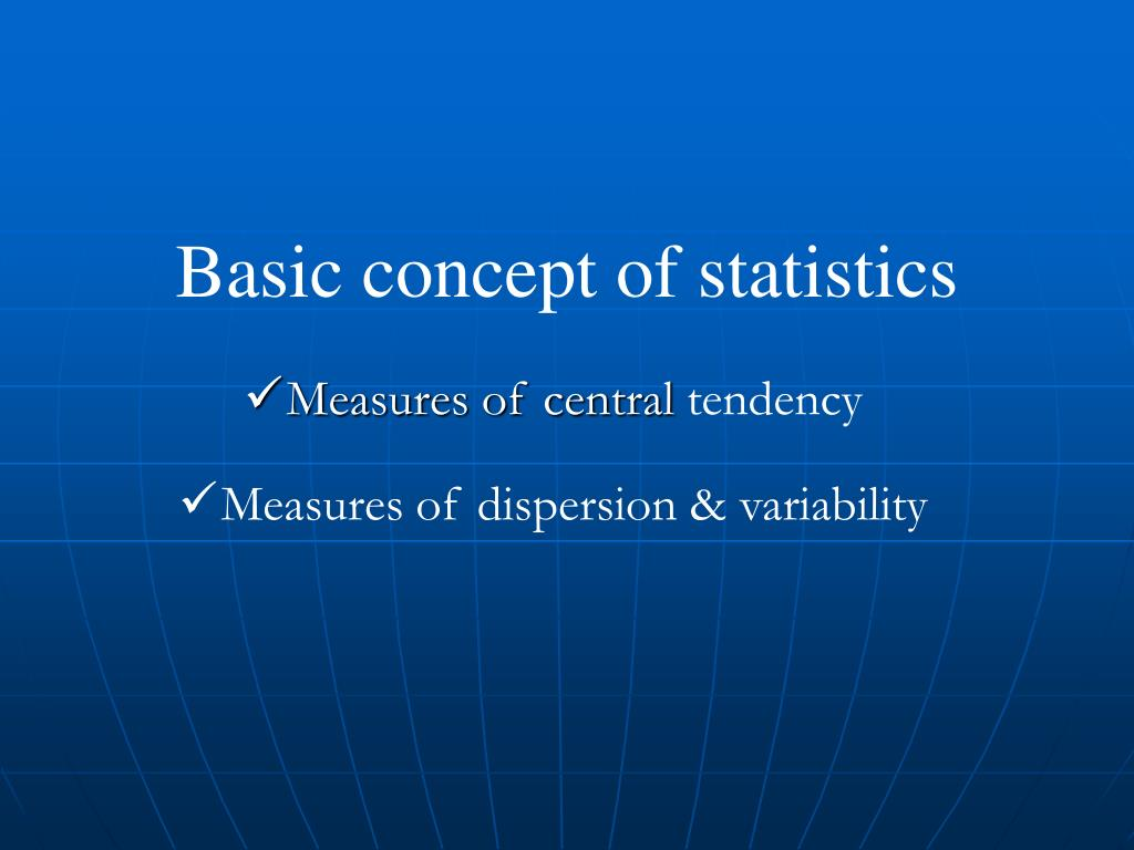 basic concept of statistics l.
