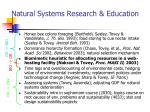 natural systems research education