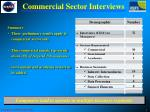 commercial sector interviews