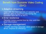 benefit from scalable video coding svc