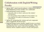 collaboration with english writing faculty