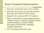 project component implementation