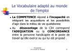 le vocabulaire adapt au monde de l emploi23