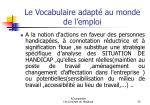 le vocabulaire adapt au monde de l emploi25
