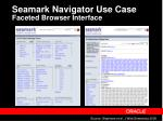 seamark navigator use case faceted browser interface
