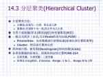 14 3 hierarchical cluster