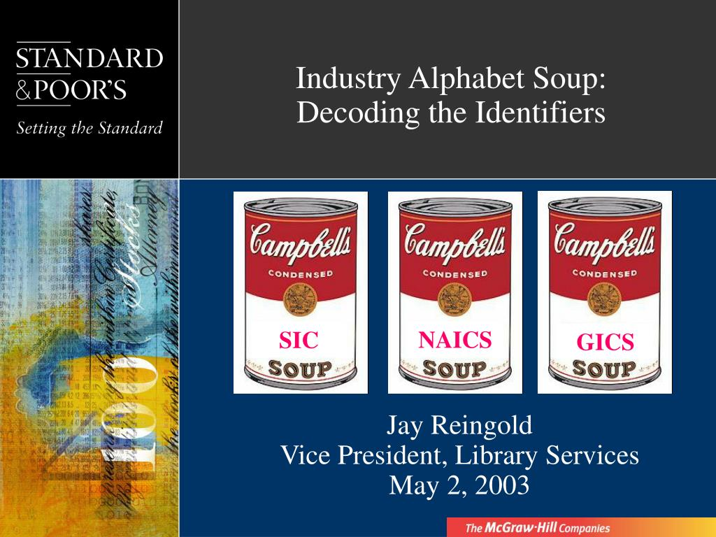 industry alphabet soup decoding the identifiers l.
