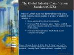 the global industry classification standard gics18