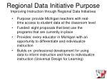 regional data initiative purpose improving instruction through regional data initiatives