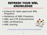 refresh your wbl knowledge