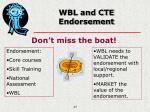 wbl and cte endorsement