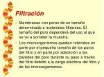 filtraci n
