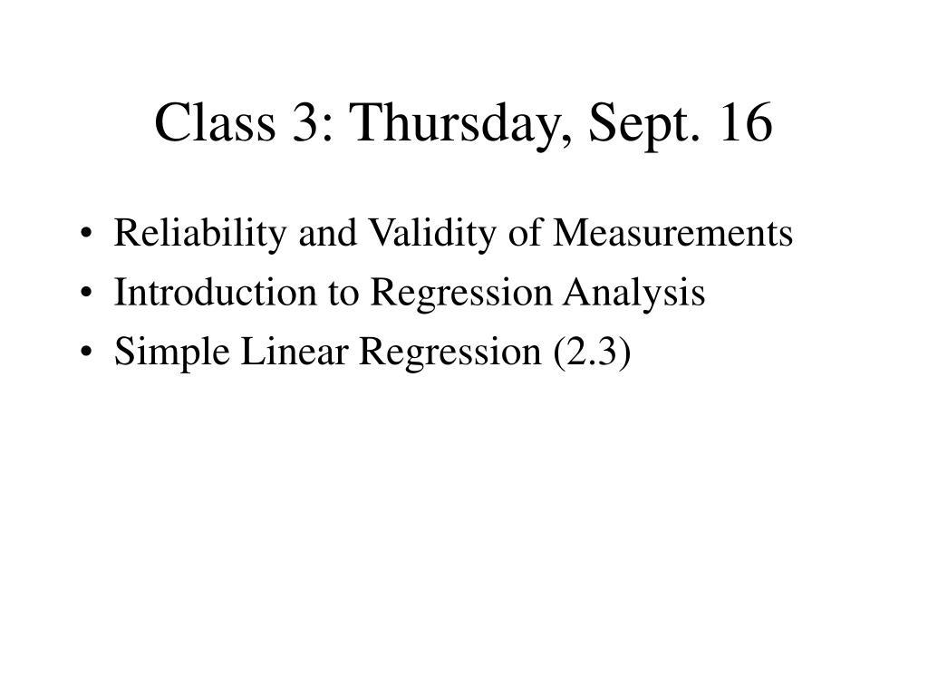 class 3 thursday sept 16 l.