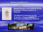 belmont report 1979