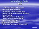 nuremberg code 1947