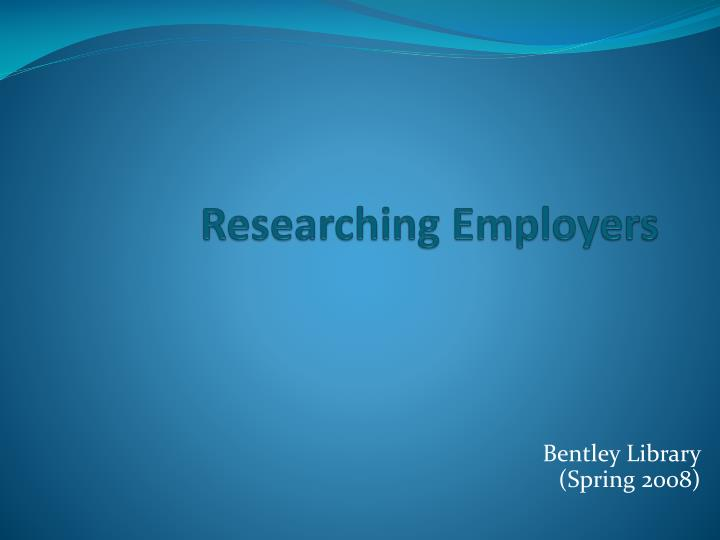 researching employers n.