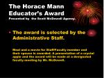 the horace mann educator s award presented by the scott mcdowell agency