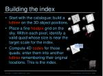 building the index