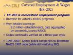 covered employment wages es 202