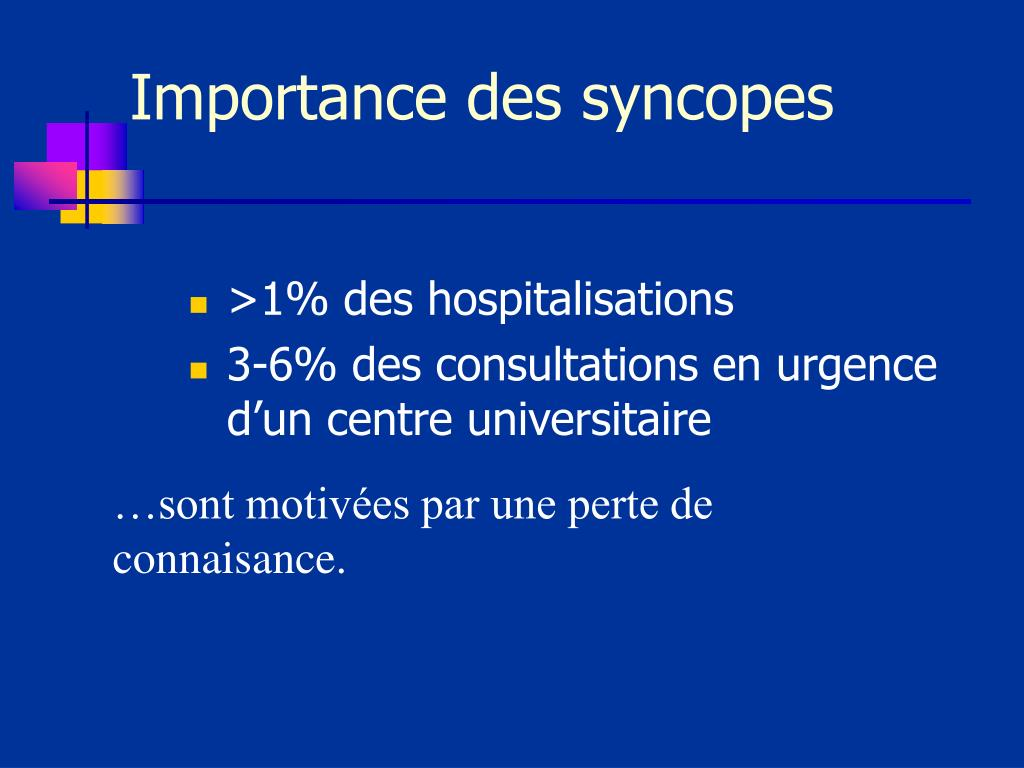 Importance des syncopes