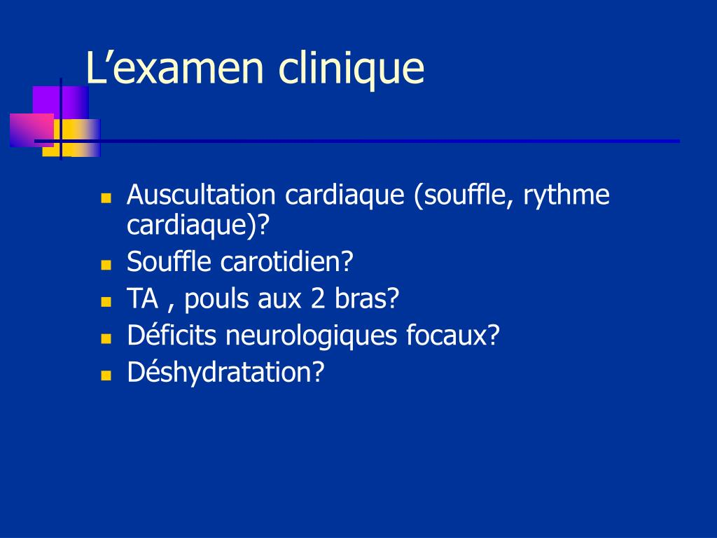 L'examen clinique