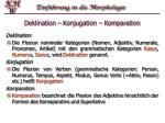 deklination konjugation komparation