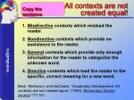 all contexts are not created equal