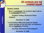 all contexts are not created equal20