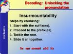 decoding unlocking the pronunciation