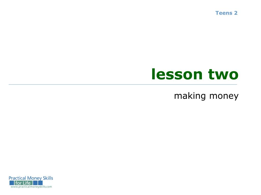 lesson two l.