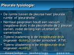 pleurale fysiologie