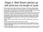 stage 2 wall street catches up with price but not length of cycle