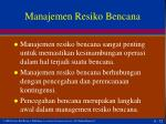 manajemen resiko bencana