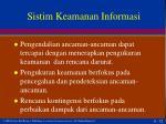 sistim keamanan informasi
