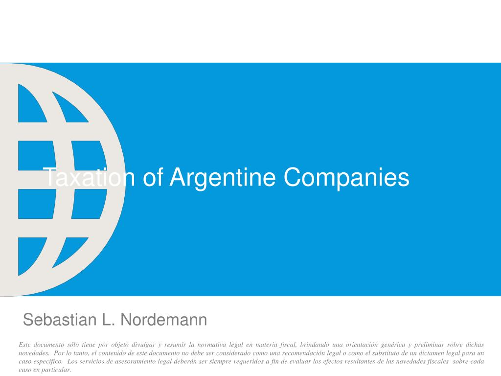 taxation of argentine companies l.