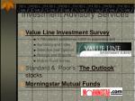 investment advisory services16